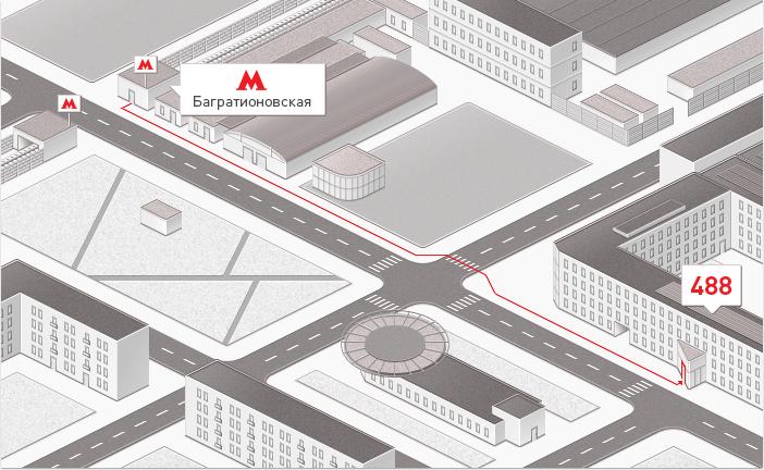 Схема проезда к ТЦ «Горбушка»